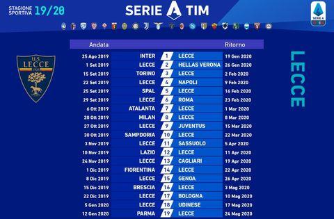 Serie A Calendario Inter.Serie A Pronto Il Calendario Il Lecce Apre La Stagione A