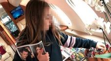 Sonia Bruganelli e la foto della figlia sul jet privato