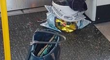 Foto: l'ordigno in un vagone