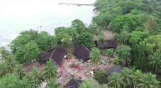 Indonesia, il drone sopra i luoghi colpiti dallo tsunami