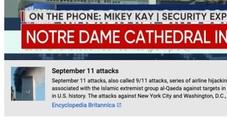 Notre-Dame, i media Usa: il crollo ricorda l'11 settembre