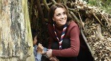Kate Middleton versione scout, nel rifugio sull'albero con i bambini
