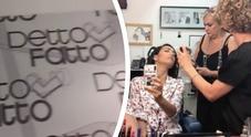 Palinsesti Caterina Balivo si prepara nei camerini di Detto Fatto e posta il video su Insatgram. Nostalgia canaglia?