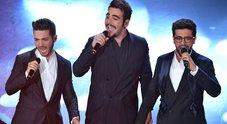Sanremo 2019, Il Volo arriva terzo e la sala stampa esulta: «Merde, vaff..»: il video pubblicato da Facchinetti