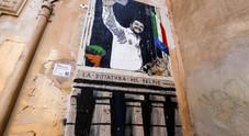 Murale di Salvini in Via dei Polacchi a Roma (foto Andrea Giannetti/Ag.Toiati)