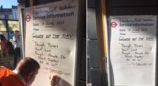 Il messaggio lasciato in metro diventa virale