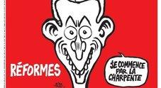 Notre Dame, Charlie Hebdo ironizza sul rogo: la vignetta