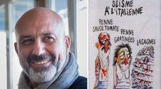 Pirozzi rivanga le vignette di Charlie Hebdo sul terremoto: «Noi italiani siamo diversi»