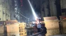 Il robot dei pompieri per la messa in sicurezza all'interno della cattedrale