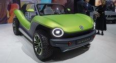 """Volkswagen ID. Buggy, l'elettrica divertente. A Ginevra la """"spiaggina"""" del terzo millennio"""