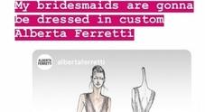 Gli abiti delle damigelle firmati Alberta Ferretti