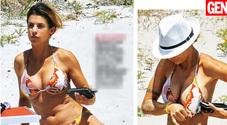Elisabetta Canalis, seno ritoccato? Bikini e décolleté esplosivo in Sardegna