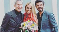 Michelle Hunziker criticata alla conferenza di Sanremo 2018, il gesto che non è piaciuto Video