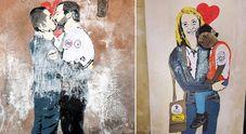 Foto Salvini-Di Maio, spunta il murales del bacio