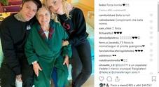 Chiara Ferragni e Fedez in ospedale da nonna Luciana
