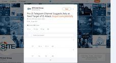 /Il post su Telegram
