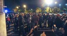 Protesta davanti al X municipio