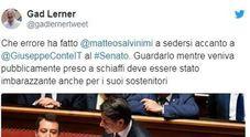 Crisi di governo, Gad Lerner a Salvini: «Preso a schiaffi, errore sedersi vicino a Conte»
