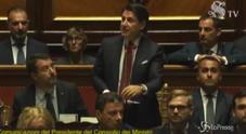 Foto Le facce di Salvini durante il discorso di Conte