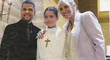 Antonella Clerici ed Eddy Martens di nuovo insieme: felici per la comunione della figlia Maelle