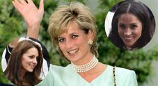 Lady Diana con le nuore Meghan Markle e Kate Middleton: l'immagine toccante apparsa sui social Video
