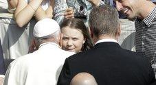 L'attivista incontra il Papa