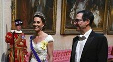 Kate Middleton versione principessa alla cena per Trump sceglie la tiara preferita di Lady Diana