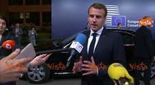 Macron: «Migranti, trovata una soluzione europea»