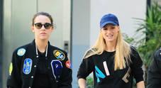 Michelle Hunziker e Aurora Ramazzotti come sorelle, look casual per due