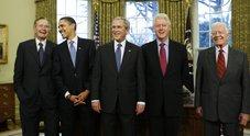 Ex presidenti Usa aiutano le vittime