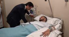 Conte visita il carabiniere ferito