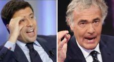 """Giletti-Bocchino, lite a """"Non è l'Arena"""": «Hai la bava», «Informati»"""