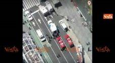 Video Times Square dall'alto dopo lo schianto