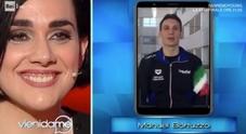 Caterina Balivo e il video messaggio di Manuel Bortuzzo a Martina Giangrande