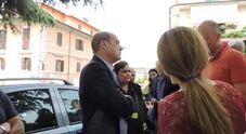 Rocca di Papa arrivo Zingaretti sul posto