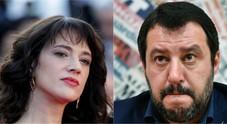 «Salvini mer**»: e il ministro replica ad Asia Argento: «Non sei cattiva, ma se hai problemi...»