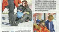 Melissa Satta, vacanze sulla neve col figlio Maddox (Diva e donna)