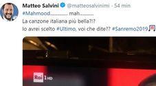 Sanremo 2019, Salvini twitta: «Mah... avrei scelto Ultimo»