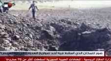 Siria, la tv di Damasco mostra i crateri provocati dalle bombe