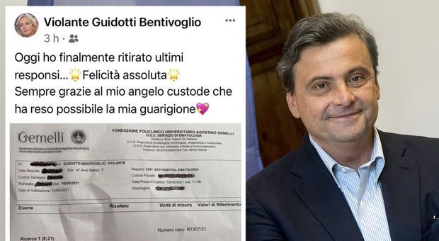 Carlo Calenda e il post della moglie guarita dalla leucemia. E Gualtieri commenta: «Bellissima notizia»
