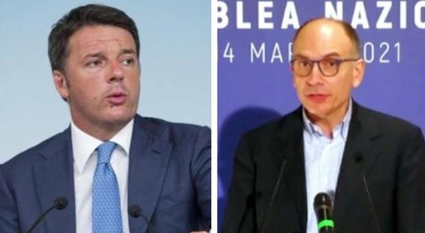 Letta e Renzi faccia a faccia: sostengo a Draghi ma divisione su M5S