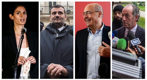 «Spinti dal Covid», Zaia e Decaro volano nei sondaggi. Sala ok, crollano Raggi, Fontana e Zingaretti