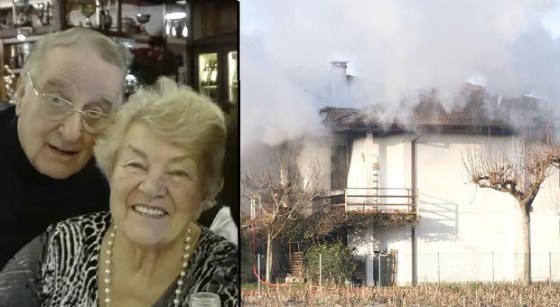 Esplosione questa mattina in una villetta nel Padovano : le vittime Enrico Fontanella, 88 anni, originario Varese, e la moglie Norma Todesco, 85 anni