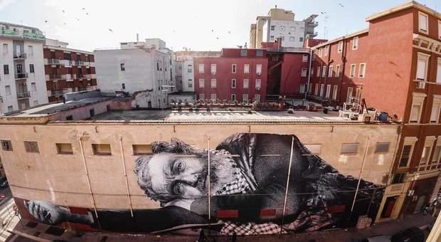 Closcià, un murales di 40 metri per mostrare chi è invisibile