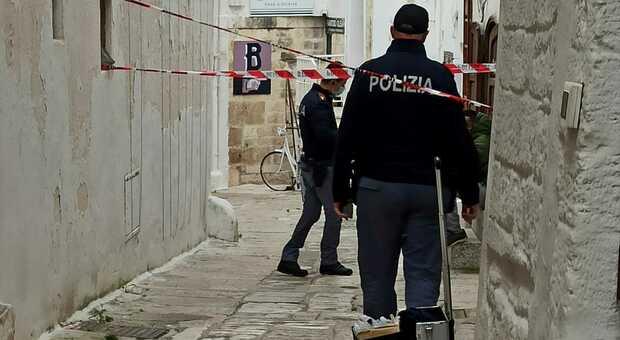 La polizia intervenuta sul posto