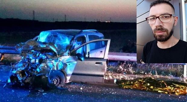 L'auto su cui viaggiava la vittima