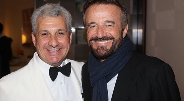 A sinistra Giovanni Maschio con Christian De Sica
