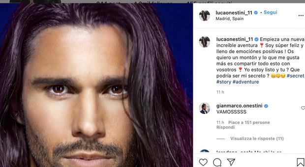 Su Instagram, Luca Onestini, comunica la sua nuova avventura in Spagna: Secret Story