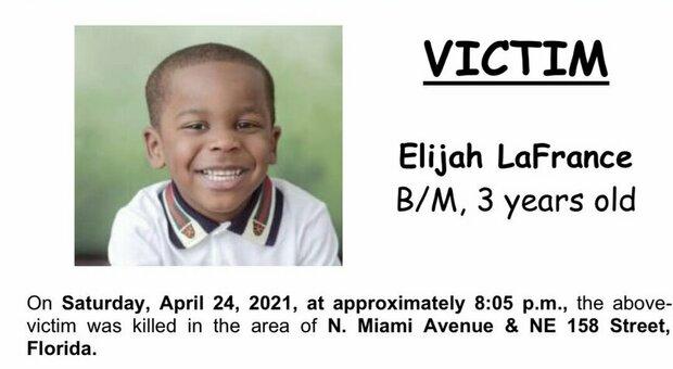 Choc a Miami, bambino di tre anni ucciso da un colpo di pistola