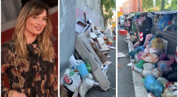 Roma invasa dalla spazzatura, il video di Margherita Granbassi: «Vi prego, fate qualcosa»
